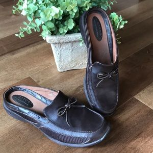 Liz Sport leather mule, size 9, chocolate brown